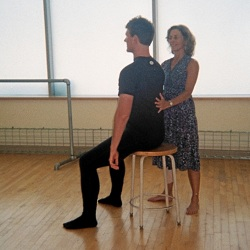 Nancy Romita works with an Alexander Technique student